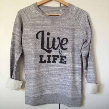 sweatshirt live is life deux amours