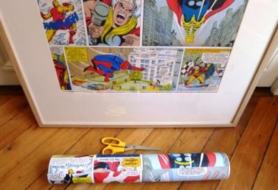 cadre chambre enfant DIY superhéros photo aude de nozenfantschéris