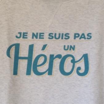 zoom sweatshirt je ne suis pas un héros