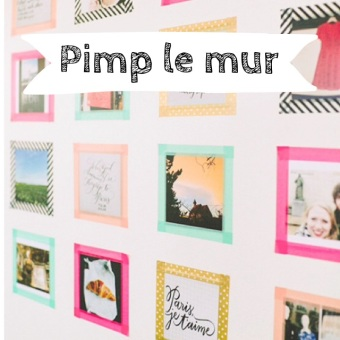 décor murale photo diy masking tape