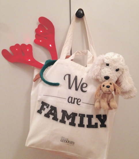 tote bag familial géant we are family